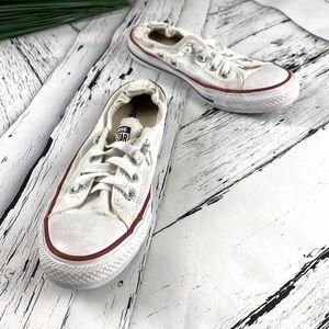 Converse All Star White Shoreline Slip On Size 8